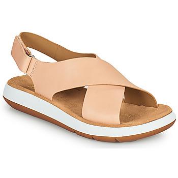 鞋子 女士 凉鞋 Clarks 其乐 JEMSA CROSS 裸色