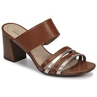 鞋子 女士 休闲凉拖/沙滩鞋 Clarks 其乐 JOCELYNNE ANDI 棕色 / 银色