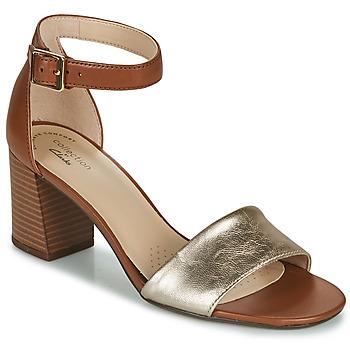 鞋子 女士 凉鞋 Clarks 其乐 JOCELYNNE CAM 棕色 / 银色