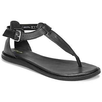 鞋子 女士 凉鞋 Clarks 其乐 KARSEA POST 黑色