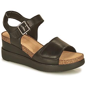鞋子 女士 凉鞋 Clarks 其乐 LIZBY STRAP 黑色