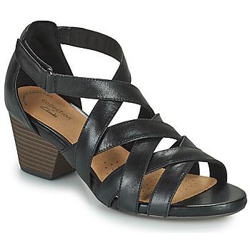 鞋子 女士 凉鞋 Clarks 其乐 LORENE POP 黑色