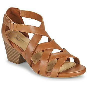 鞋子 女士 凉鞋 Clarks 其乐 LORENE POP 驼色