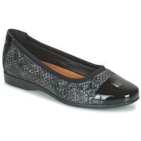 鞋子 女士 平底鞋 Clarks 其乐 UN DARCEY CAP2 黑色