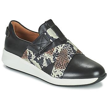 鞋子 女士 球鞋基本款 Clarks 其乐 UN RIO STRAP 黑色