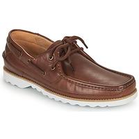 鞋子 男士 船鞋 Clarks 其乐 DURLEIGH SAIL 棕色