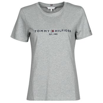 衣服 女士 短袖体恤 Tommy Hilfiger TH ESS HILFIGER C-NK REG TEE SS 灰色