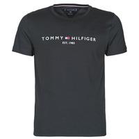 衣服 男士 短袖体恤 Tommy Hilfiger CORE TOMMY LOGO 黑色