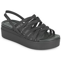 鞋子 女士 凉鞋 crocs 卡骆驰 CROCS BROOKLYN STRAPPY LOWWDGW 黑色