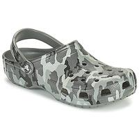 鞋子 男士 洞洞鞋/圆头拖鞋 crocs 卡骆驰 CLASSIC PRINTED CAMO CLOG 迷彩 / 灰色