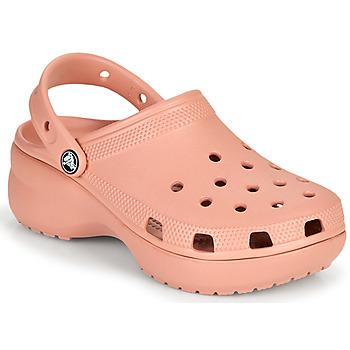 鞋子 女士 洞洞鞋/圆头拖鞋 crocs 卡骆驰 CLASSIC PLATFORM CLOG W 玫瑰色