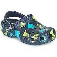 鞋子 男孩 洞洞鞋/圆头拖鞋 crocs 卡骆驰 CLASSIC MONSTER PRINT CLOG T 蓝色