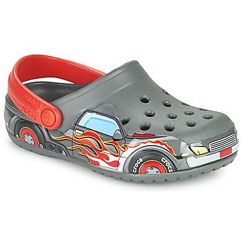 鞋子 男孩 洞洞鞋/圆头拖鞋 crocs 卡骆驰 FLTRUCKBANDCLOG K 灰色 / 红色