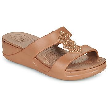 鞋子 女士 休闲凉拖/沙滩鞋 crocs 卡骆驰 CROCSMONTEREYSHIMMERSLPONWDG W 古銅色