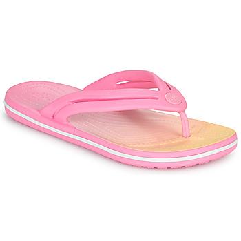 鞋子 女士 人字拖 crocs 卡骆驰 CROCBAND OMBRE FLIP W 玫瑰色