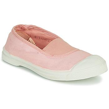 鞋子 女孩 球鞋基本款 Bensimon TENNIS ELASTIQUE 玫瑰色