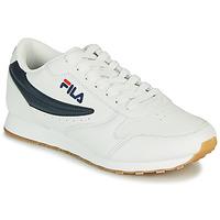 鞋子 男士 球鞋基本款 Fila ORBIT LOW 白色 / 蓝色