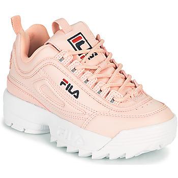 鞋子 女孩 球鞋基本款 Fila DISRUPTOR KIDS 玫瑰色