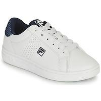 鞋子 男孩 球鞋基本款 Fila CROSSCOURT 2 NT KIDS 白色 / 蓝色
