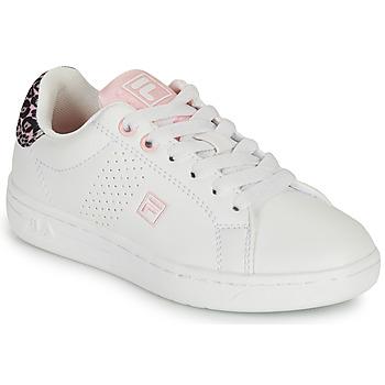 鞋子 女孩 球鞋基本款 Fila CROSSCOURT 2 NT KIDS 白色 / 玫瑰色