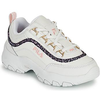 鞋子 女孩 球鞋基本款 Fila STRADA A LOW JR 白色 / 米色