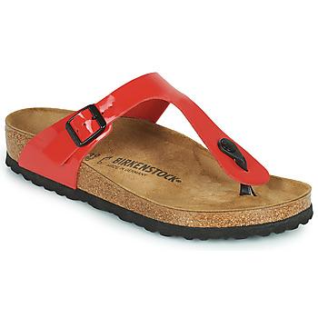 鞋子 女士 人字拖 Birkenstock 勃肯 GIZEH 红色