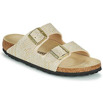 鞋子 女士 休闲凉拖/沙滩鞋 Birkenstock 勃肯 ARIZONA 金色 / 白色