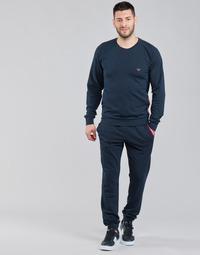 衣服 男士 厚套装 Emporio Armani STRETCH TERRY 海蓝色