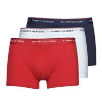 内衣  男士 拳击 Tommy Hilfiger TRUNK X3 白色 / 红色 / 海蓝色