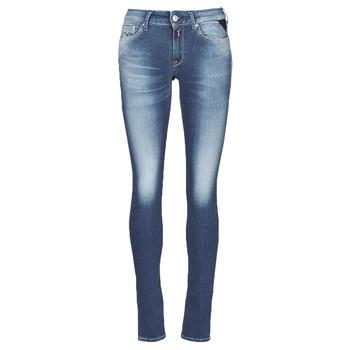 衣服 女士 牛仔铅笔裤 Replay HYPERFLEX LUZ 蓝色 / Moyen