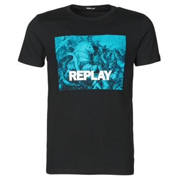 衣服 男士 短袖体恤 Replay  黑色 / 蓝色