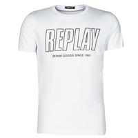 衣服 男士 短袖体恤 Replay  白色