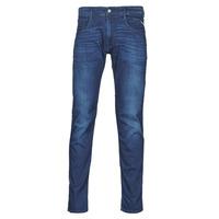 衣服 男士 紧身牛仔裤 Replay ANBASS Pants 蓝色 / Moyen