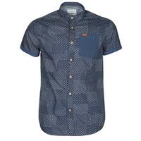 衣服 男士 短袖衬衫 Deeluxe ETHNIC 海蓝色