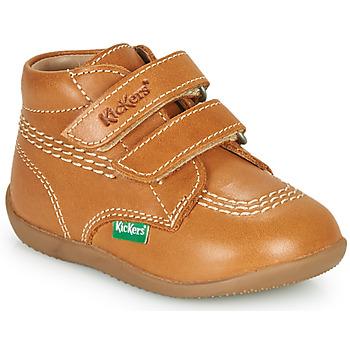 鞋子 男孩 高帮鞋 Kickers BILLY VELK-2 驼色