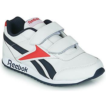 鞋子 儿童 球鞋基本款 Reebok Classic REEBOK ROYAL CLJOG 2 2V 白色 / 海蓝色 / 红色