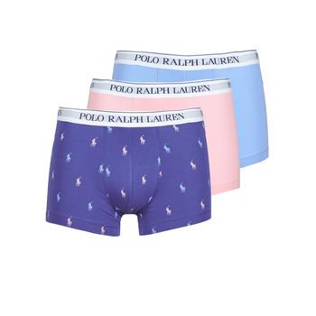 内衣  男士 拳击 Polo Ralph Lauren CLASSIC TRUNK X3 玫瑰色 / 蓝色 / 海蓝色