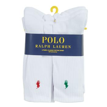 配件 男士 短筒袜 Polo Ralph Lauren ASX110 6 PACK COTTON 白色