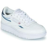 鞋子 女士 球鞋基本款 Reebok Classic CLUB C DOUBLE 白色 / 蓝色