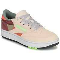 鞋子 女士 球鞋基本款 Reebok Classic CLUB C DOUBLE 米色 / 波尔多红