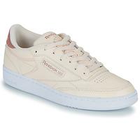 鞋子 女士 球鞋基本款 Reebok Classic CLUB C 85 玫瑰色
