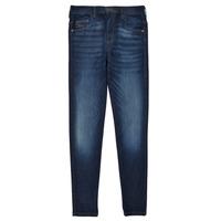 衣服 女孩 牛仔铅笔裤 Diesel 迪赛尔 D-SLANDY HIGH 蓝色