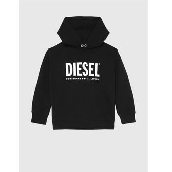 衣服 儿童 卫衣 Diesel 迪赛尔 SDIVISION LOGO 黑色