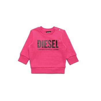 衣服 女孩 卫衣 Diesel 迪赛尔 SCREWDIVISION LOGOB 玫瑰色