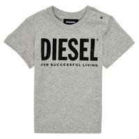 衣服 儿童 短袖体恤 Diesel 迪赛尔 TJUSTLOGOB 灰色