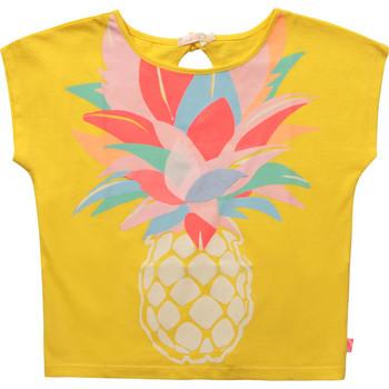 衣服 女孩 短袖体恤 Billieblush / Billybandit U15873-548 黄色