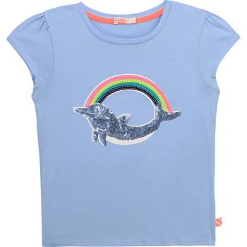 衣服 女孩 短袖体恤 Billieblush U15875-798 蓝色