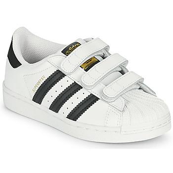 鞋子 儿童 球鞋基本款 Adidas Originals 阿迪达斯三叶草 SUPERSTAR CF C 白色 / 黑色
