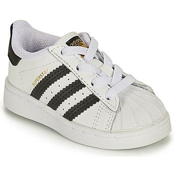 鞋子 儿童 球鞋基本款 Adidas Originals 阿迪达斯三叶草 SUPERSTAR EL I 白色 / 黑色