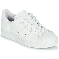 鞋子 儿童 球鞋基本款 Adidas Originals 阿迪达斯三叶草 SUPERSTAR J 白色